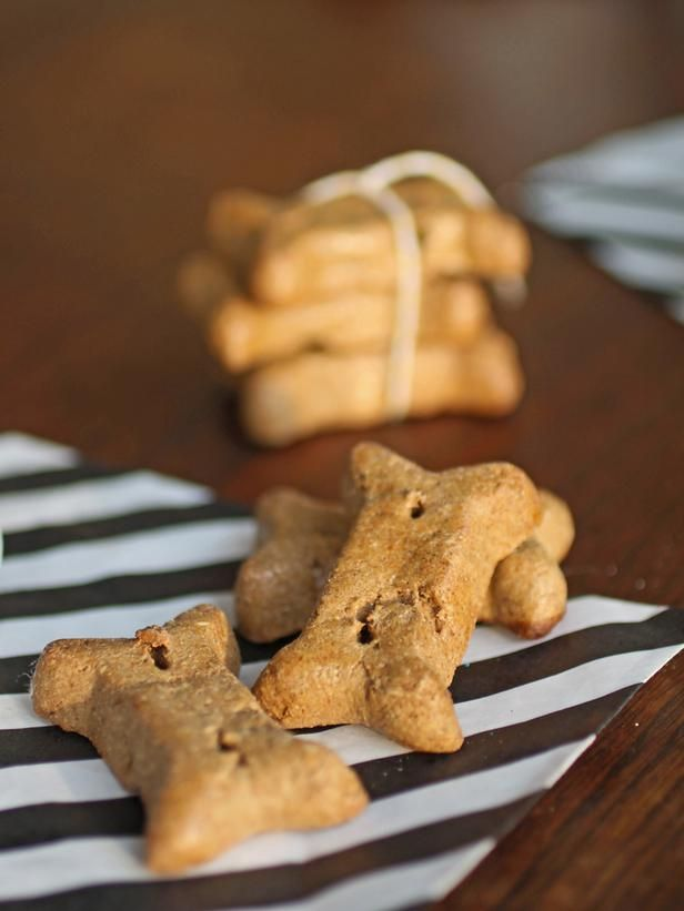Recipe for homemade peanut butter dog treats. My dogs love peanut butter. It's entertaining to watch them try to get the peanut butter off the roofs of their mouths. But I really think they'd enjoy these easy-to-eat, crunchy, peanut-buttery treats way more!