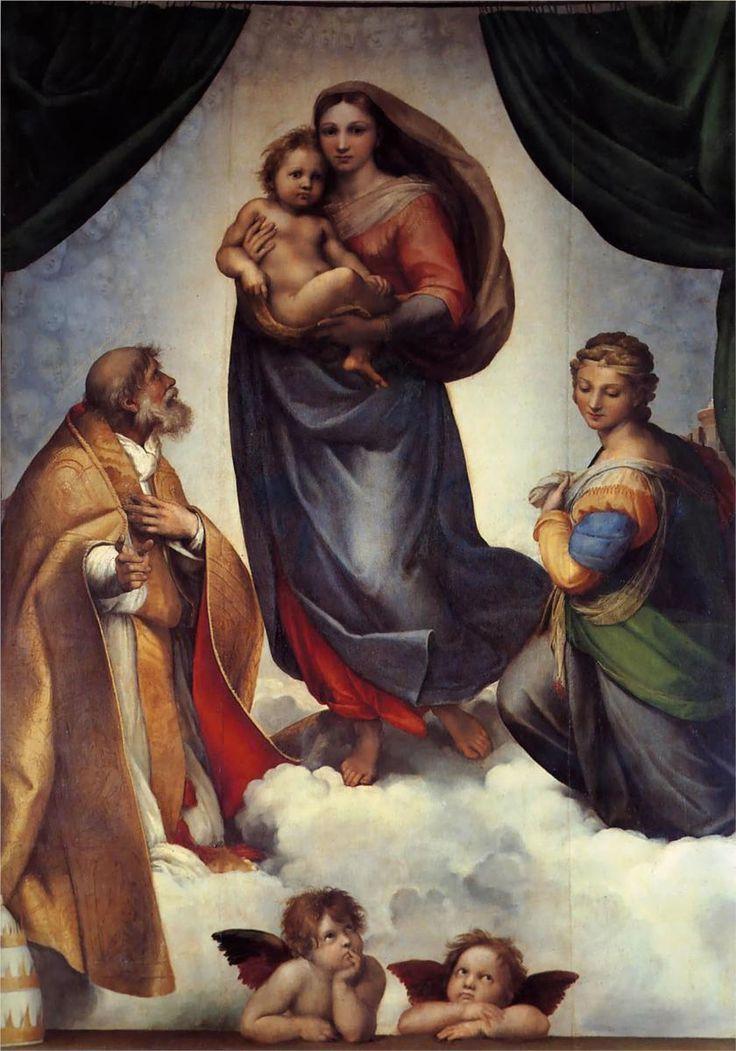 Raphael (Raffaello Sanzio da Urbino) ~ The Sistine Madonna, 1513-14