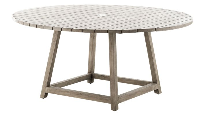 Round Outdoor Teak Dining Table