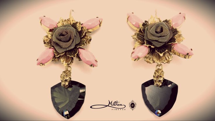 MILTON-FIRENZE Wild Rose Earrings