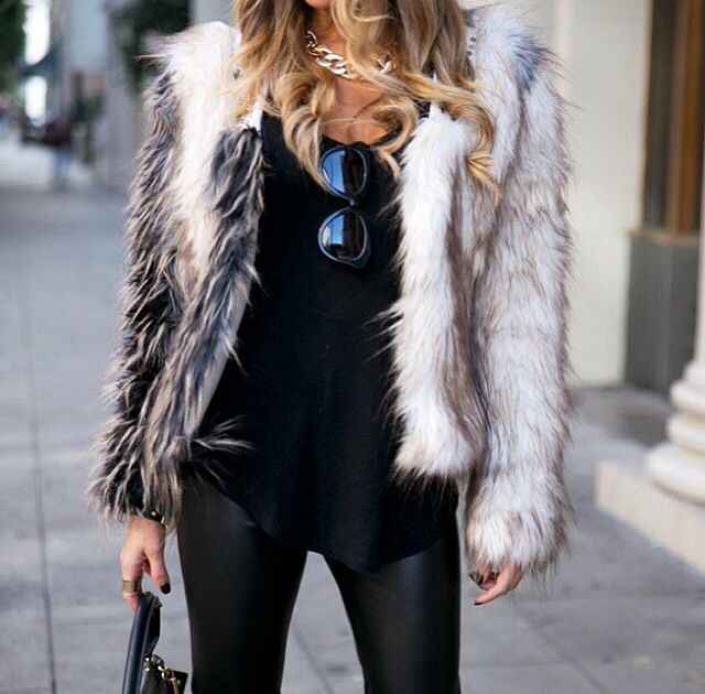 Black & fur