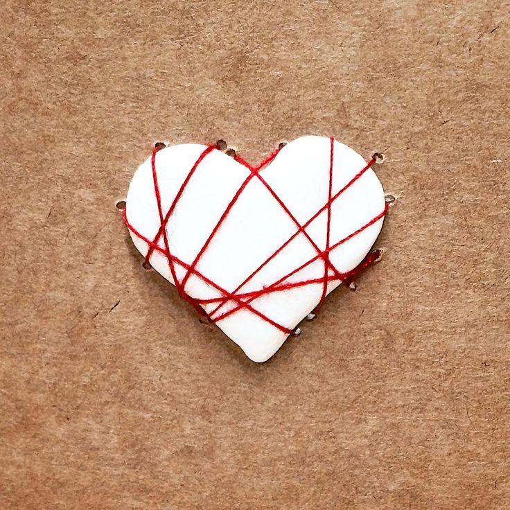 Handmade porcelain heart cards. MUDD.ca