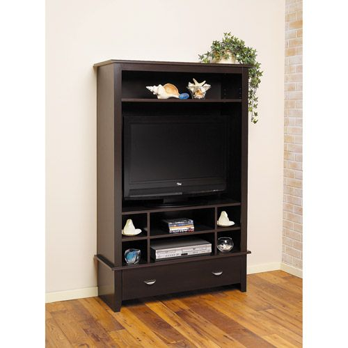 Vertical Entertainment Center Black Forest For Tvs Up To
