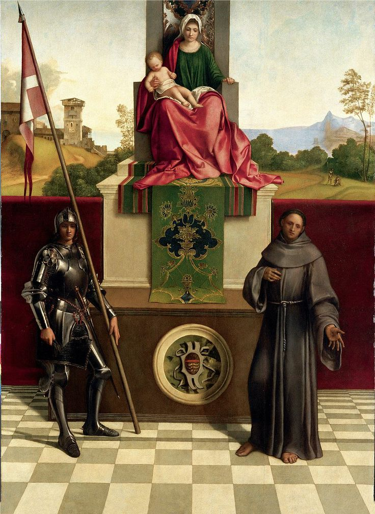 Giorgione, Madonna and Child Enthroned Between St. Frances and St. Liberalis, c. 1505, Duomo, Castelfranco, Veneto