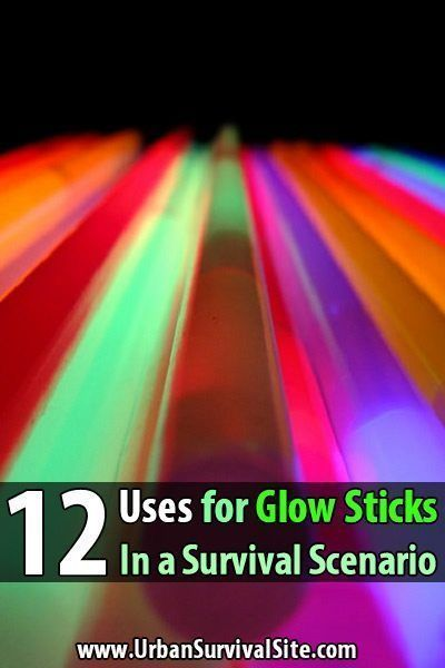 12 Uses for Glow Sticks in a Survival Scenario. Glow sticks have many advantages. They're cheap, lightweight, windproof, waterproof, and safe to use around flammables so you can use them anywhere or in any circumstance. They have a long shelf life, they don't take batteries, they don't break if you drop them, and you can see them up to a mile away. #Glowstickinsurvival #Urbansurvivalsite #Alternativeusesforitems