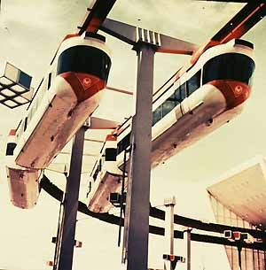 The New York Worlds Fair Monorail was built by American Machine and Foundry for the 1964 Fair.