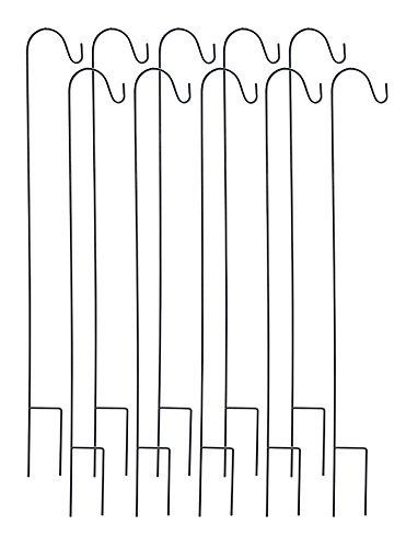 Ashman Black Shepherd Hook 48 Inch 10 Pack, Rust Resistant Steel Hooks Ideal For Hanging Plant Baskets, Solar Lights, Lanterns, Bird Feeders, Insect Repellents & More AshmanOnline http://www.amazon.com/dp/B016PWY09S/ref=cm_sw_r_pi_dp_rGydxb1YE8D9C