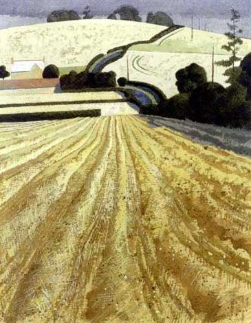 """""""Baxtons Grange"""" by Simon Palmer (watercolour and bodycolour)"""