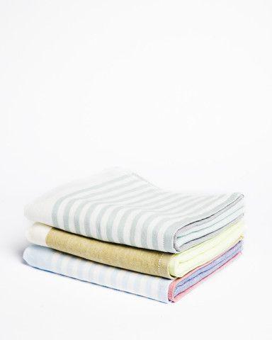 Yoshii Tri-Color Chambray Hand Towel