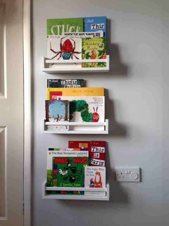 Ikea Bekvam spice racks used as bookshelves