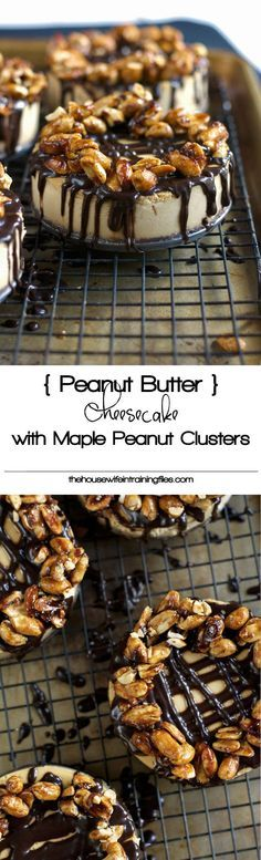 Greek Yogurt Peanut Butter Cheesecake | Low Carb, Chocolates, Recipe, Desserts, Graham Cracker, Clean Eating, Maple Syrup