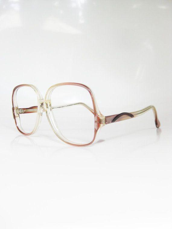 80s Pink Eyeglasses Oversized Geek Chic Eyeglass Frames