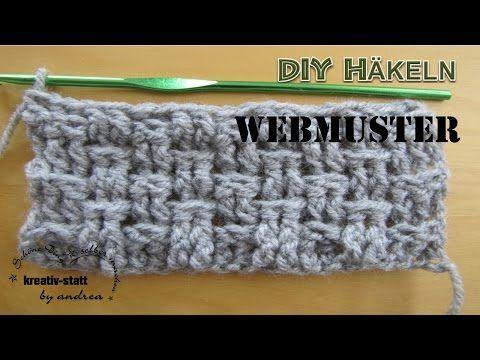 DIY HÄKELN – Webmuster mit 2 Reliefstäbchen – kreativ-statt by andrea – DIY, Schöne Dinge selber machen!
