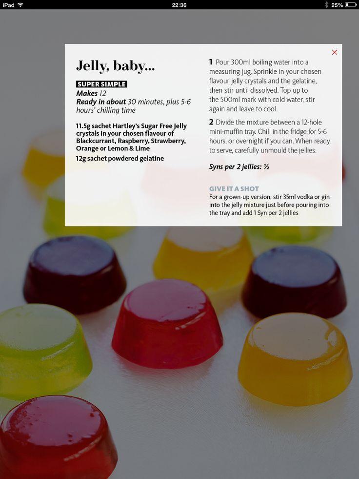 Mini fruit Jelly,baby. Slimming World magazine July 2015.
