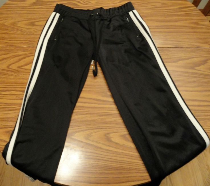 Juicy Couture Black Athletic Training Work Out Pants Cinch Waist Pockets Size S #JuicyCouture #PantsTightsLeggings
