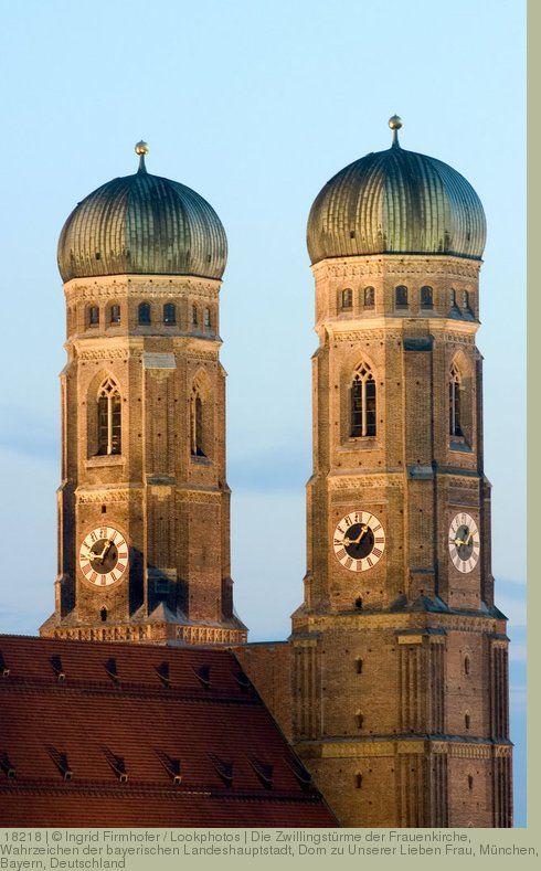 Die Zwillingstürme der Frauenkirche, Wahrzeichen der bayerischen Landeshauptstadt, Dom zu Unserer Lieben Frau, München, Bayern, Deutschland