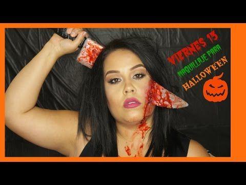 Viernes 13 Maquillaje para halloween - YouTube