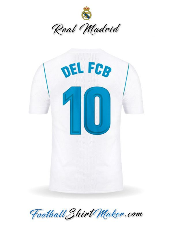48f74c418b Camiseta Real Madrid CF 2017 2018 Del fcb 10