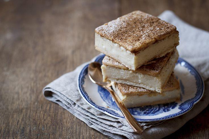 Cheat's Milk Tart Custard Slices with Cinnamon