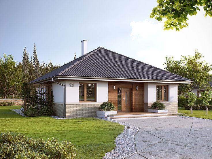 Elka 2 (85,95 m2) to nieduży projekt domu parterowego. Pełna prezentacja projektu dostępna jest na stronie: www.domywstylu.pl.... #elka2, #projekty, #projekt #dom #domy #projektygotowe, #domywstylu, #mtmstyl, #domyparterowe, #małedomy, #houses, #home #design, #architektura, #architecture