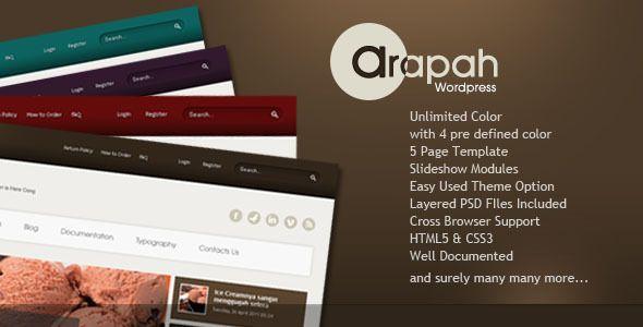 Arapah - Modern Culinary WordPress Themes