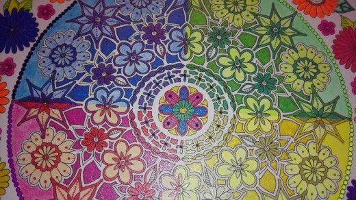 From Secret Garden used Glitter Gel Pens and Kohinoor Mondeluz