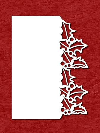 OVER THE EDGE CHRISTMAS HOLLY SVG PDF on Craftsuprint designed by Apetroae Stefan - In svg and pdf format, with optional backing plate - Now available for download!