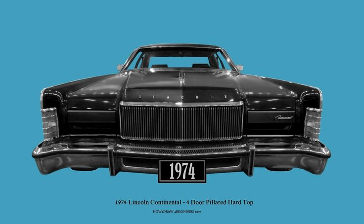 1974 Lincoln Continental - 4 Door Pillared Hard Top - Lincoln Town Car