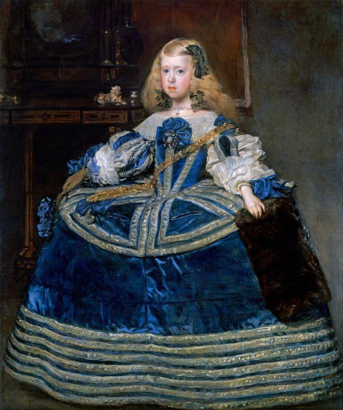Diego Rodríguez de Silva y Velázquez (1599 -1660) — Infanta Margarita Teresa in a Blue Dress( 670x800)