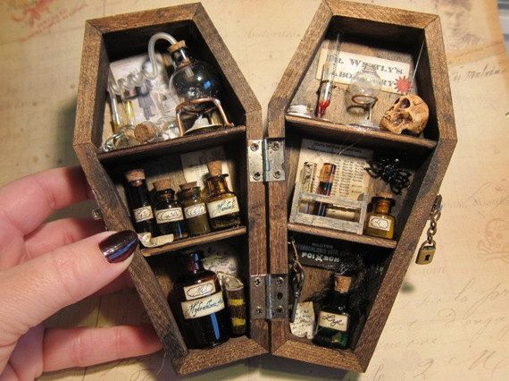 Thisisthelist Gothhipster Undertakertalbot Mad Scientist Laboratory In A Miniature Coffin Amazing Craft Idea El Dia De Los Muertos Pinterest Sha