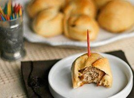 The little appetizer-sized meatball wrapped in Crescent dough and brushed with melted butter is simple and amazing. You wont be able to eat just one!