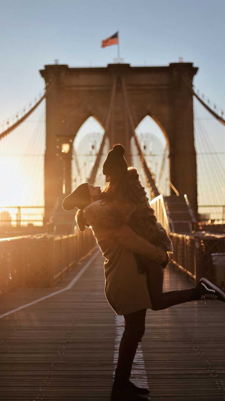 Brooklyn Bridge New York, Couple