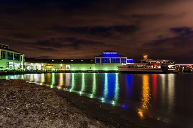 The Auckland/Devonport Ferry docked at Victoria Wharf, Devonport, Auckland