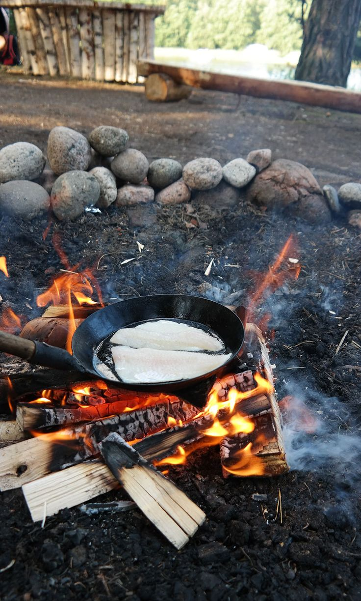 Camping in Finland.