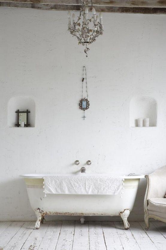 The all-white bathroom. #BathroomRemodel #BathroomRemodelingIdeas