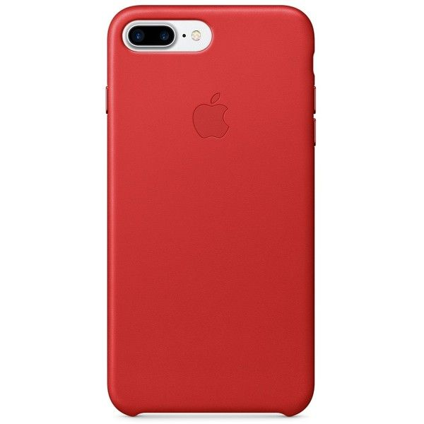 Capa de couro para iPhone 7 Plus (PRODUCT)RED ❤ liked on Polyvore featuring accessories, tech accessories and phones