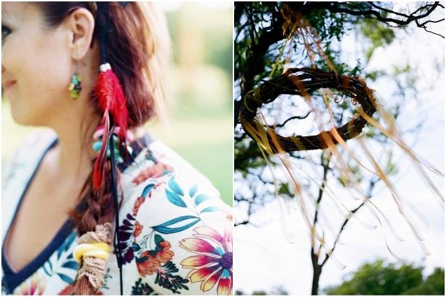 hippi öltözékben