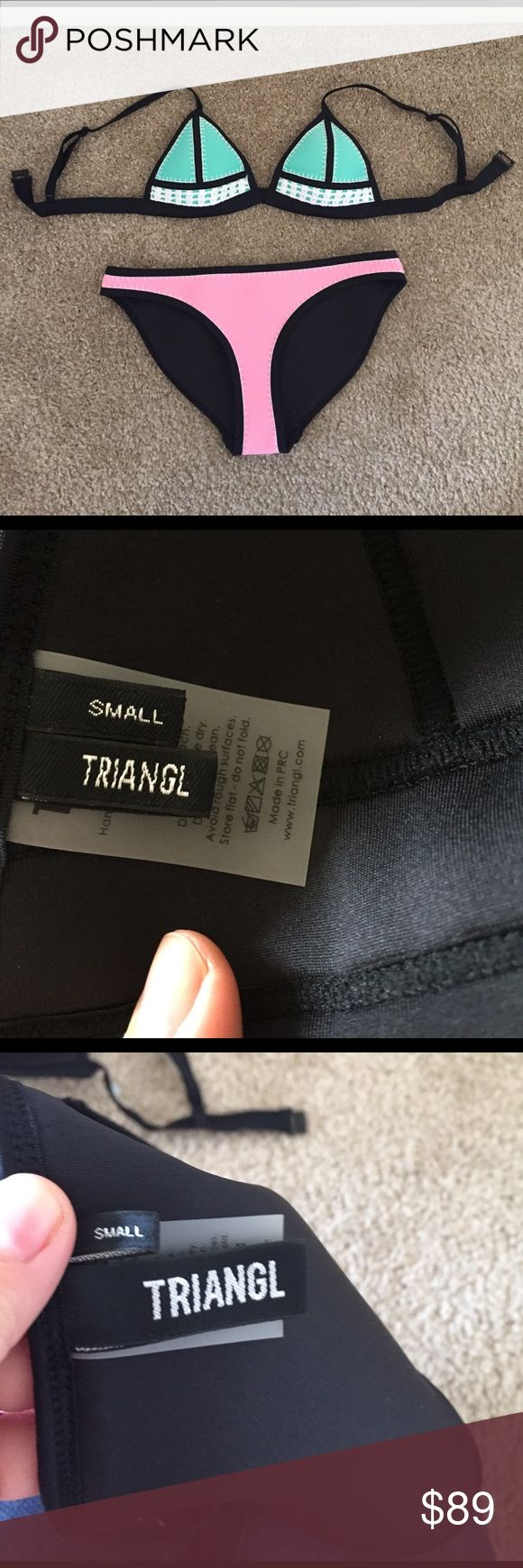 Triangl Swim Suit NWOT! This is a brand new suit just purchased. I don't just did not like the fit. Comes with bag! triangl swimwear Swim Bikinis