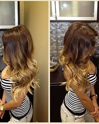 Brown brunette ombre balayage