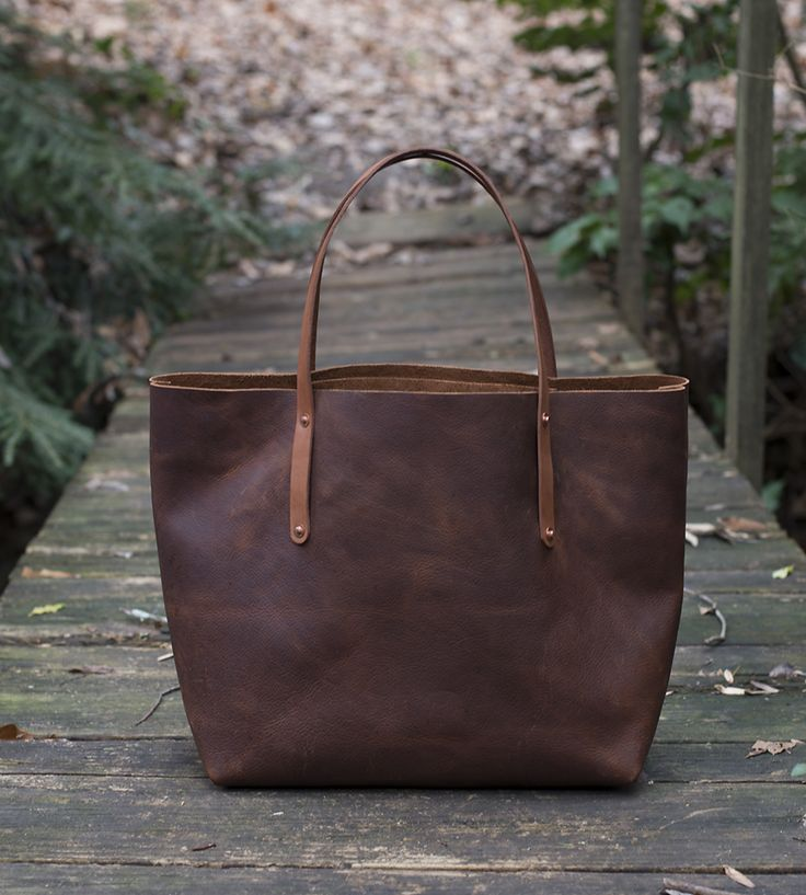 Avery Leather Tote Bag