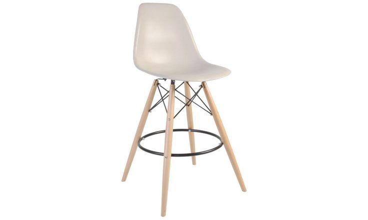 DSW Bar Stool - Wooden Leg - Eames Replica - 2
