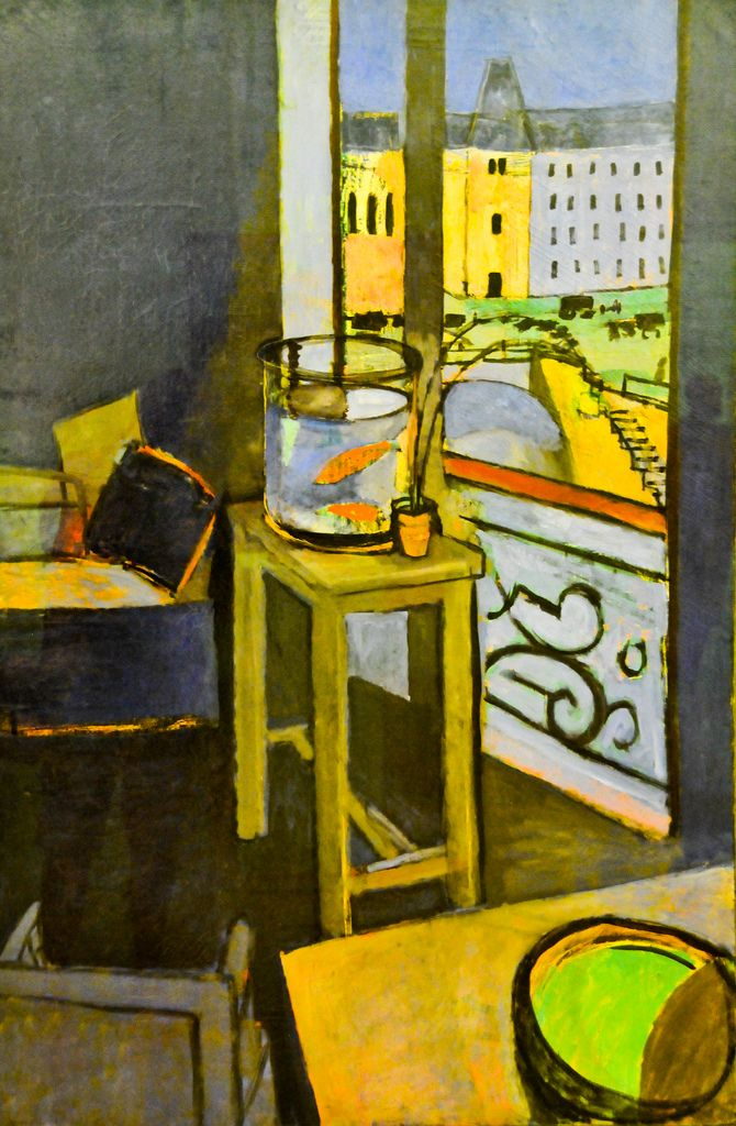 Henri matisse interieur bocal de poissons rouges 1914 for Interieur rouge matisse