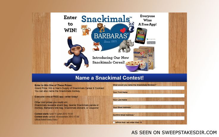 The Name A Snackimal Contest