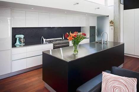 black kitchen benchtop - Google Search