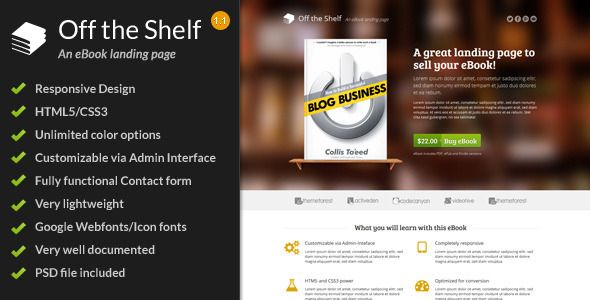Shopping Off the Shelf - Responsive E-Book Landing Pagetoday price drop and special promotion. Get The best buy