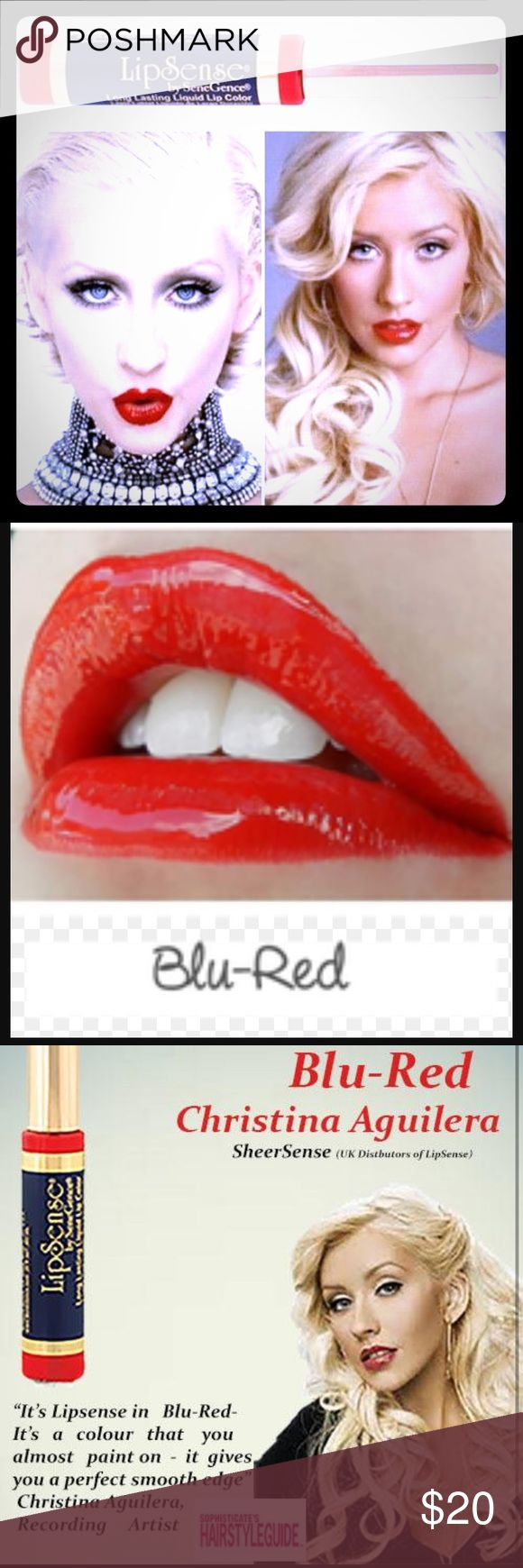 On Sale! LipSense most popular color discounted! One Blu Red tube of LipSense, brand New and sealed and discounted  for a limited time! Makeup Lipstick