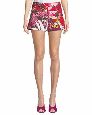 b3f23511519d2 Trina Turk Designer Corbin Flor De Jalisco Floral-Print Stretch-Cotton  Shorts