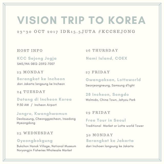 Liburan ke Korea - 2330 Oct 2017 KCC Sejong Jogja