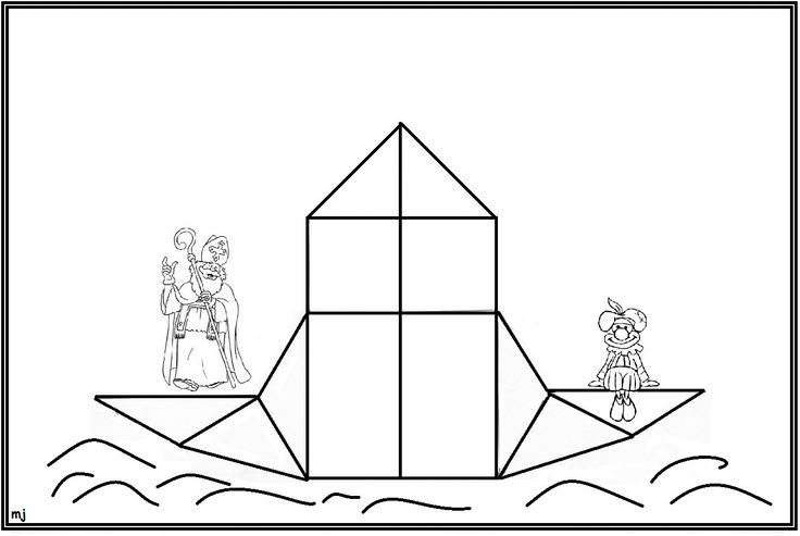 * Mozaïek: Op gekleurd papier afdrukken mozaïek erop laten leggen of laten op- na-plakken. 4-9