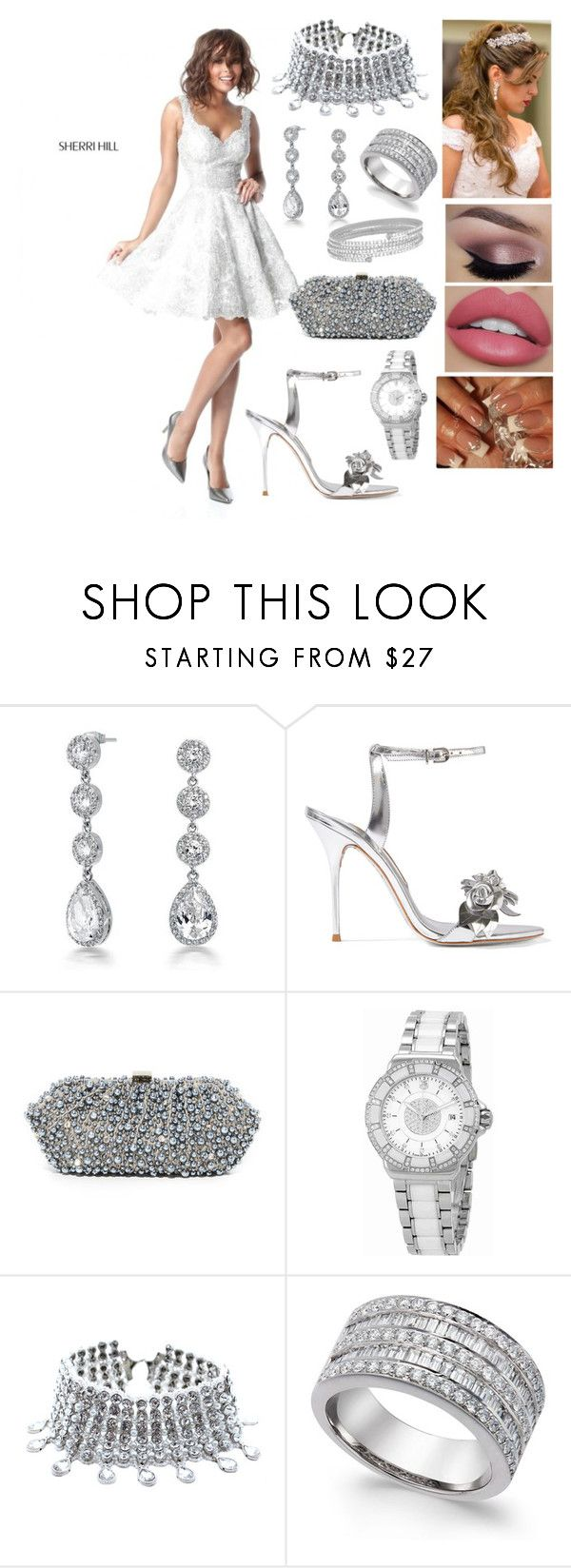 """#11"" by nikitamerchant ❤ liked on Polyvore featuring Sherri Hill, Bling Jewelry, Sophia Webster, Santi, TAG Heuer, Child Of Wild and Lisa Freede"
